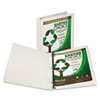 "Samsill® Earth's Choice Biobased Round Ring View Binder, 1"" Cap, White SAM18937"