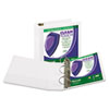"Samsill® Clean Touch Locking D-Ring View Binder, Antimicrobial, 3"" Cap, White SAM16287"