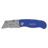Sheffield Folding Lockback Knife, 1 Utility Blade, Blue