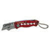 Sheffield Mini Lockback Knife, 1 Utility Blade, Red