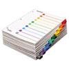 Cardinal® QuickStep OneStep Bulk Index System, Title: 1-10, Letter, Multicolor, 24 Sets/BX CRD61038