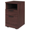 "Shelf/Box/File Mobile Pedestal for 10500/10700 Shells, 28"" High, Mahogany"