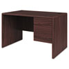 "<strong>HON®</strong><br />10700 Series Single Pedestal Desk with Three-Quarter Height Right Pedestal, 48"" x 30"" x 29.5"", Mahogany"