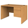 "<strong>HON®</strong><br />10700 Series Single Pedestal Desk with Three-Quarter Height Right Pedestal, 48"" x 30"" x 29.5"", Harvest"