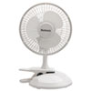 "Holmes® 6"" Convertible Clip/Desk Fan, 2 Speed, White - HCF0611A-WM"