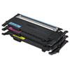Samsung CLTP407A Toner, Cyan/Magenta/Yellow, 3/Box SASCLTP407A