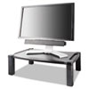Kantek Wide Two-Level Stand, Height-Adjustable, 20 x 13 1/4, Black KTKMS500