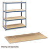 Particleboard Shelves for Steel Pack Archival Shelving, 69w x 33d x 84w, Box of 4