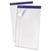 Recycled Writing Pads, Legal, White, 50 Sheets, Dozen