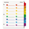 OneStep Printable Table of Contents/Dividers, 32-Tab, 11 x 8 1/2, Multicolor