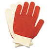 North Safety® Smitty Nitrile Palm Coated Gloves, White/Red, Medium, 12 Pairs NSP811162M