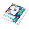 Avery® Print & Apply Clear Label Dividers w/White Tabs, 5-Tab, 11 1/4 x 9 1/4, 5 Sets AVE11440
