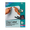 Avery® Print & Apply Clear Label Unpunched Dividers, 3-Tab, Ltr, 25 Sets AVE11442