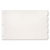 Paper Insertable Dividers, 5-Tab, 11 x 17, White Paper/Clear Tabs