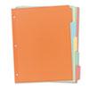 WRITE & ERASE PLAIN-TAB PAPER DIVIDERS, 5-TAB, LETTER, MULTICOLOR, 36 SETS
