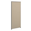 NON-RETURNABLE. Verse Office Panel, 24w X 60h, Gray