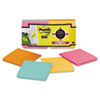 Post-it® Notes Super Sticky Full Adhesive Notes, 3 x 3, Bora Bora Colors, 12/Pack MMMF33012SSFM