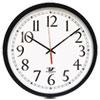 "Chicago Lighthouse SelfSet Wall Clock, 16-1/2"", Black ILC67400603"