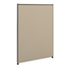 NON-RETURNABLE. Verse Office Panel, 30w X 42h, Gray