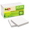 "Redi-Tag TreeFrog Notes - 100 x Classic White - 3"" x 3"" - Rectangle - Plain - White - Sugarcane - Se RTG27406"