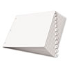 Write 'n Erase Tabloid Index Dividers, 12-Tab, White
