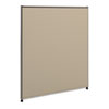 NON-RETURNABLE. Verse Office Panel, 36w X 42h, Gray