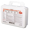NON-RETURNABLE. Bloodborne Pathogen Cleanup Kit, Osha Compliant, Plastic Case