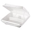 Genpak® Foam Food Containers, 3-Comp, 9 1/4 x 9 1/4 x 3, White, 100/Bag, 2 Bags/Carton GNP20310