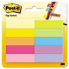 Post-it® Page Flag Markers, Assorted Bright Colors, 50 Sheets/Pad, 10 Pads/Pack MMM67010AB