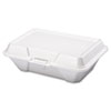 Foam Carryout Containers, 9 1/5 x 6 1/2 x 3, White, 100/Bag, 2 Bags/Carton