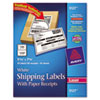Avery® Shipping Labels w/Paper Receipt, TrueBlock, 5 1/16 x 7 5/8, White, 50/Pack AVE5127