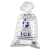 Ice Bag, 11 x 20, 8lb Capacity, 1.5mil, Clear/Blue, 1000/Carton