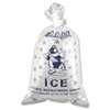 Inteplast Group Ice Bag, 12 x 21, 10lb Capacity, 1.5mil, Clear/Blue, 1000/Carton - IC1221-TT