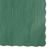 <strong>Hoffmaster®</strong><br />Solid Color Scalloped Edge Placemats, 9.5 x 13.5, Hunter Green, 1,000/Carton
