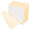 "Three Fastener File Folder, 3/4"" Exp, 1/3 Cut Tab, Letter, Manila, 50/BX"