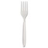 Individually Wrapped Reliance Medium Heavy Weight Cutlery, Fork, White, 1000/CT