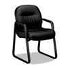 HON® 2090 Pillow-Soft Series Leather Guest Arm Chair, Black HON2093SR11T
