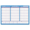 AT-A-GLANCE® 90/120-Day Undated Horizontal Erasable Wall Planner, 36 x 24, White/Blue, AAGPM23928