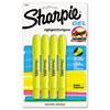 Sharpie® Gel Highlighter, Bullet Tip,Yellow, 4/Pack SAN1780476