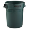 Rubbermaid® Commercial Round Brute Container, Plastic, 32 gal, Dark Green RCP2632DGR