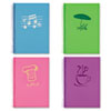 Lifenotes Notebook, College Rule, 7 x 5, 80 Sheets, , Assorted Covers, 4 /Pack