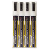 Liquid Chalk Marker, Chisel, White, 4/Pack
