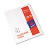 Blank Tab Legal Exhibit Index Divider Set, 25-Tab, Letter, White, Set Of 25