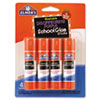 <strong>Elmer's®</strong><br />Washable School Glue Sticks, 0.24 oz, Applies Purple, Dries Clear, 4/Pack