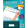 Avery® Print & Apply Clear Label Dividers w/Color Tabs, 5-Tab, Letter, 25 Sets AVE11992