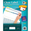 Avery® Print & Apply Clear Label Dividers w/Color Tabs, 8-Tab, Letter, 25 Sets AVE11993