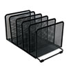 "<strong>Universal®</strong><br />Deluxe Mesh Stacking Sorter, 5 Sections, Letter to Legal Size Files, 14.63"" x 8.13"" x 7.5"", Black"