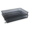 """<strong>Universal®</strong><br />Deluxe Mesh Stacking Side Load Tray, 1 Section, Legal Size Files, 17"""" x 10.88"""" x 2.5"""", Black"""