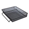 """<strong>Universal®</strong><br />Deluxe Mesh Stackable Front Load Tray, 1 Section, Letter Size Files, 11.25"""" x 13"""" x 2.75"""", Black"""
