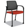 HON® Ignition Series Mesh Back Mobile Stacking Chair, Poppy Fabric Upholstery HONIS107CU42